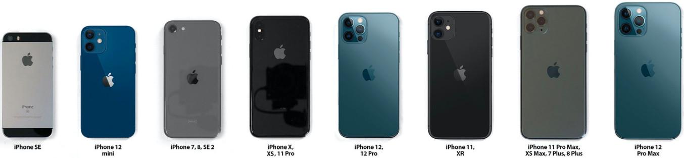 Смартфоны iPhone 12 сравнили с предшественниками