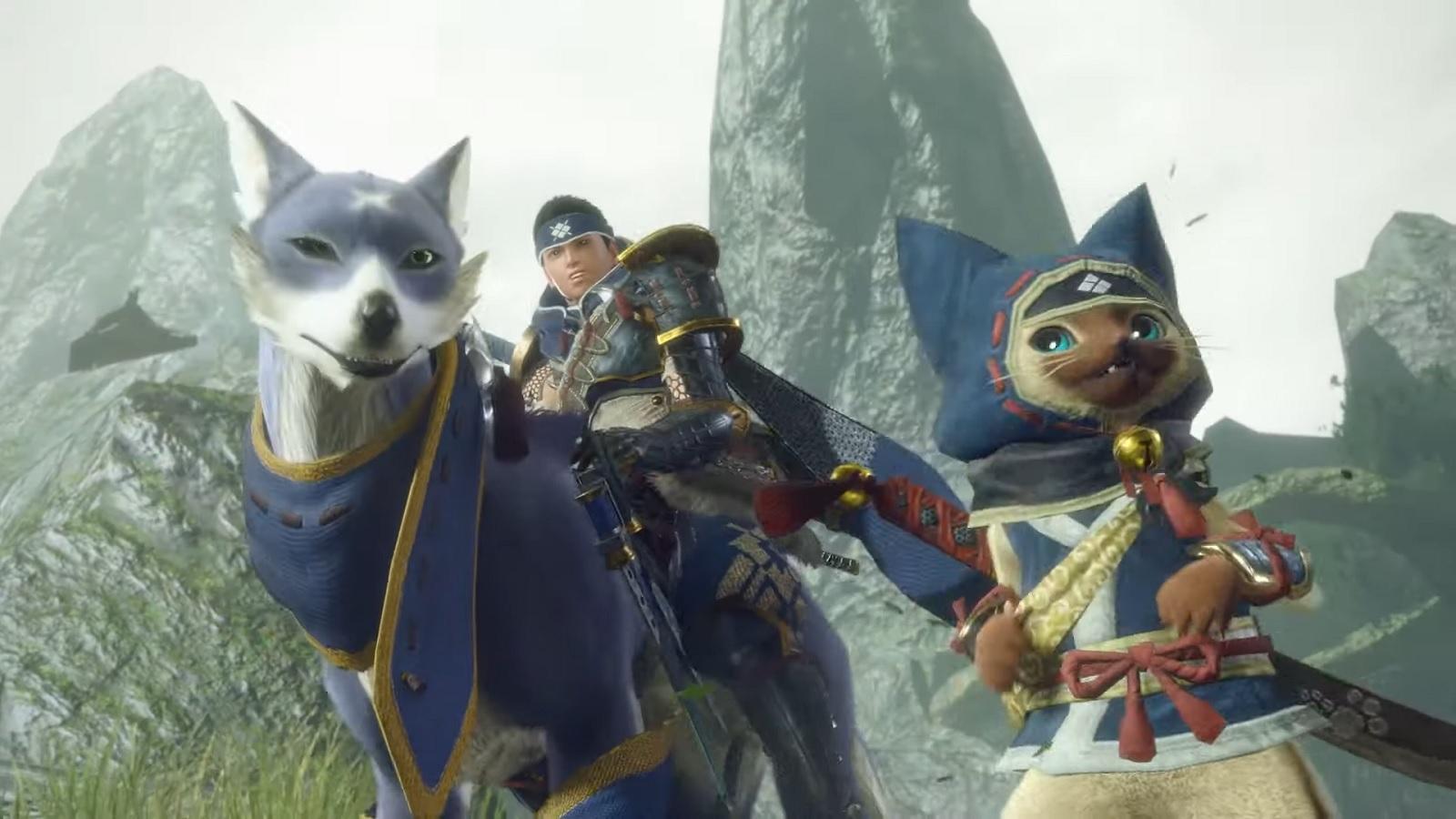 Авторы Monster Hunter Rise показали возможности редактора персонажей, включая палико и паламутов