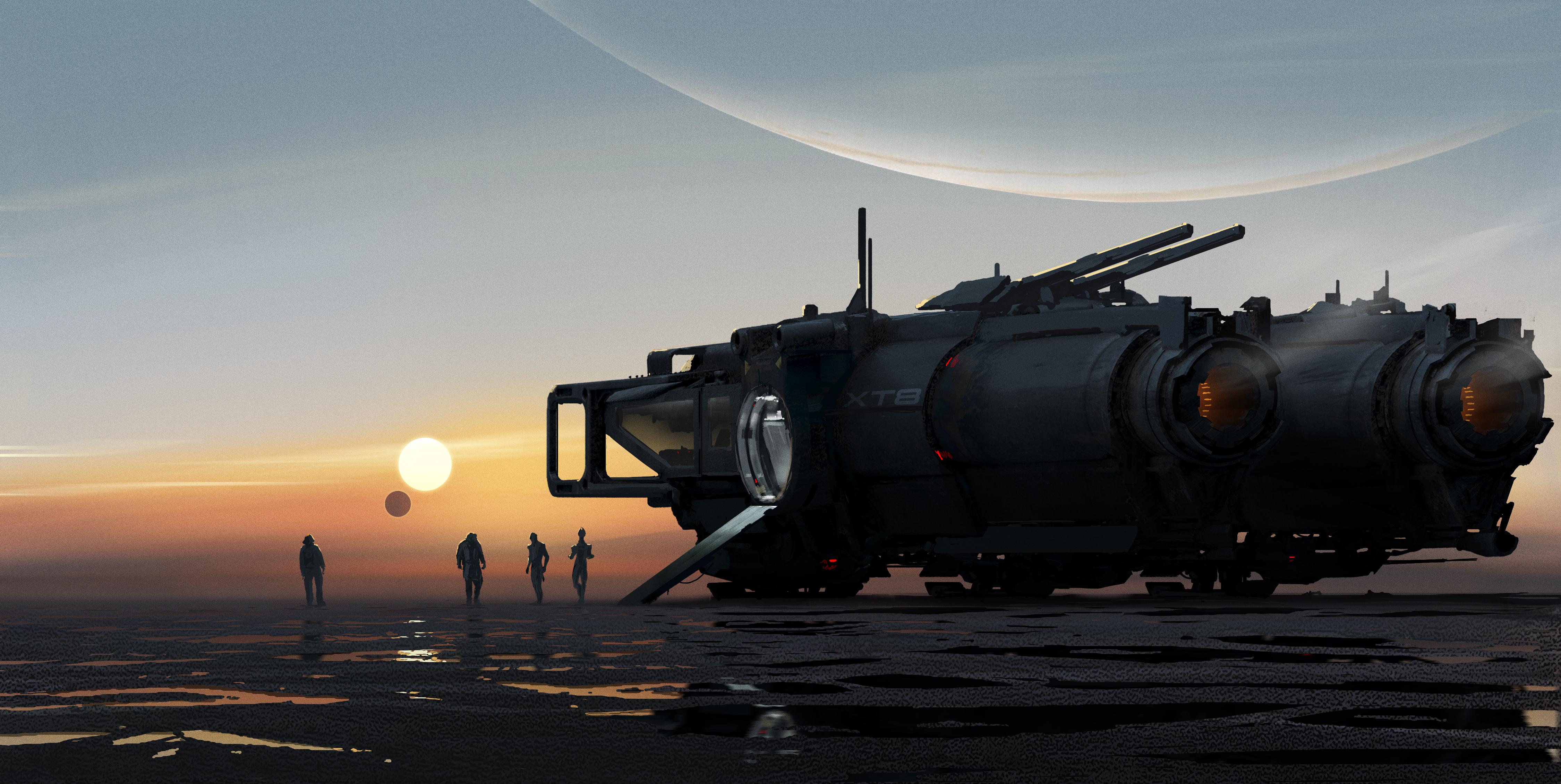 Появились новые концепт-арты следующей Mass Effect, которые намекают на место действия игры