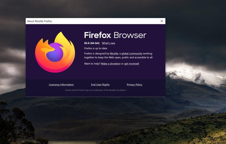 Вышел браузер Mozilla Firefox 83 с большими улучшениями движка JavaScript