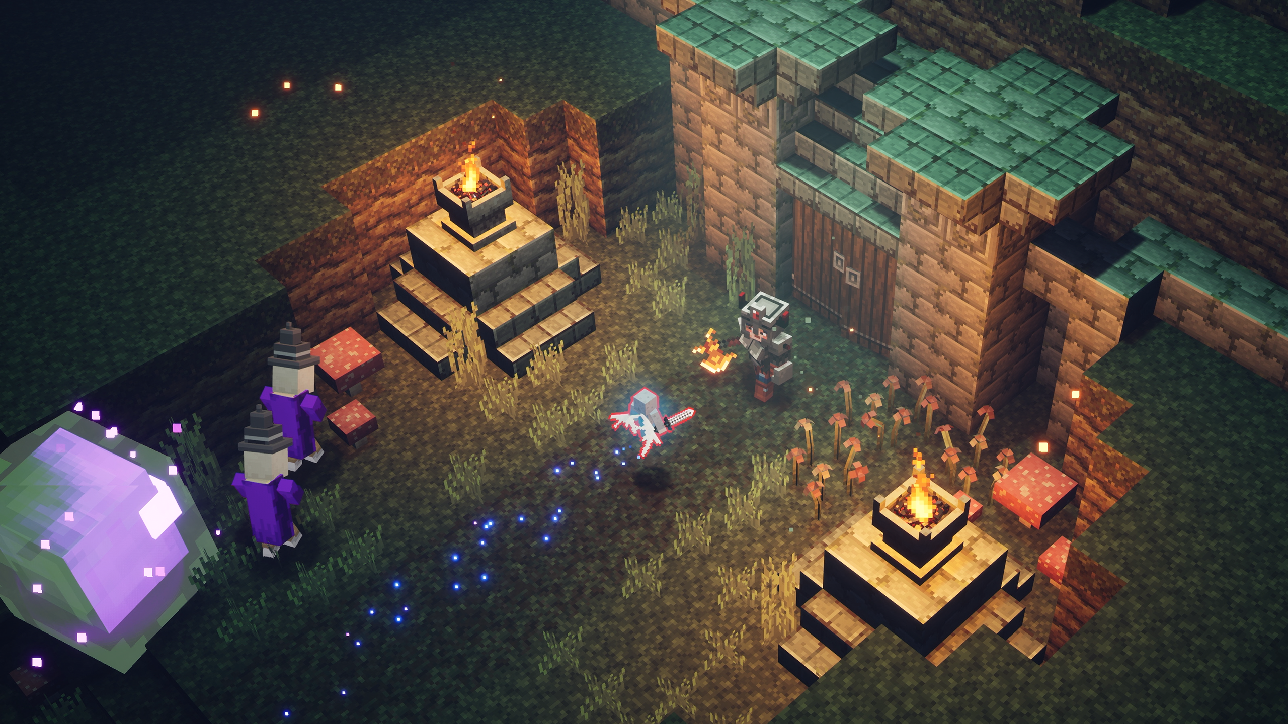 Видео: в Minecraft Dungeons появился кроссплей, на очереди — общее облако сохранений