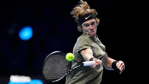 Андрей Рублев тяжело выдохнул // Теннисист не смог выйти из группы на итоговом турнире ATP