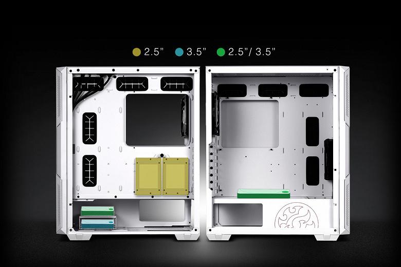 Воздушный фильтр за передней панелью корпуса XPG Starker сделан выдвижным