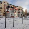 В новом сквере на Левобережье установили стенды о героях войны