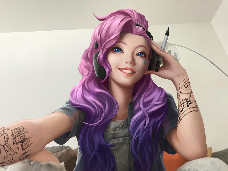 Художница обвинила Riot в использовании ее внешности для создания героини в League of Legends