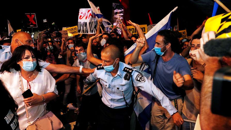 В Иерусалиме на антиправительственной акции задержали 12 человек