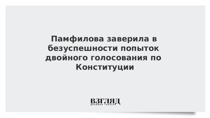Памфилова заверила в безуспешности попыток двойного голосования по Конституции