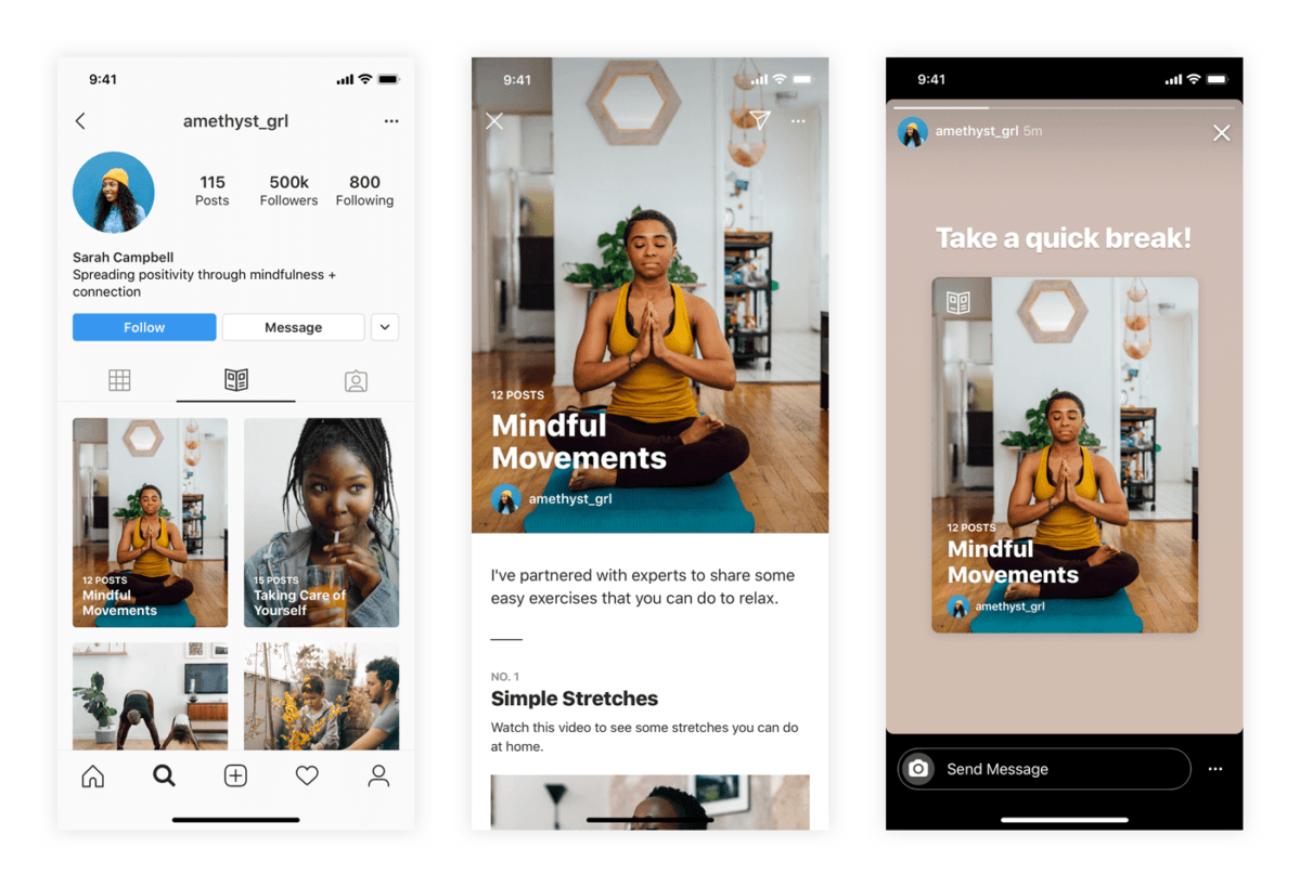 Instagram запустила функцию для создания пошаговых инструкций Guides для всех пользователей