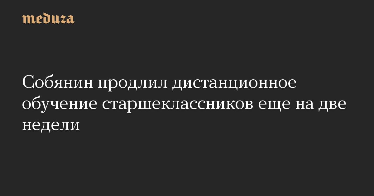 Собянин продлил дистанционное обучение старшеклассников еще на две недели