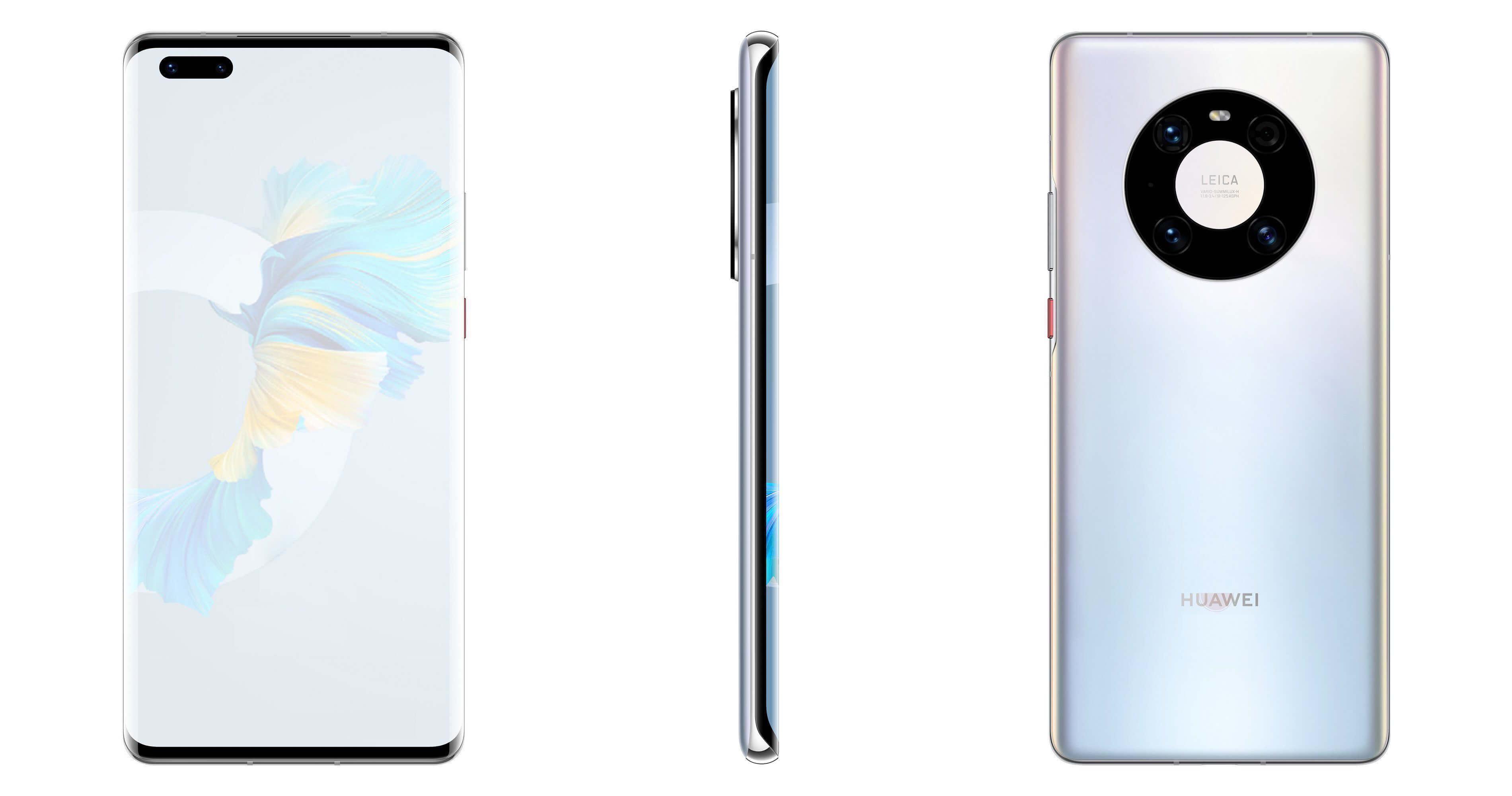 Дизайн и характеристики Huawei Mate 40 Pro полностью раскрыты до анонса