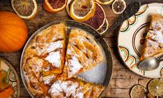 Готовим пряный тыквенный пирог с курагой