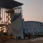В Кисловодске достраивают 18-тиметровый скалодром на открытом воздухе на территории спортивного кластера в пойме реки Подкумок